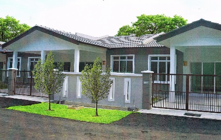Single Storey Terrace House for Sale, Rembia @ Mel